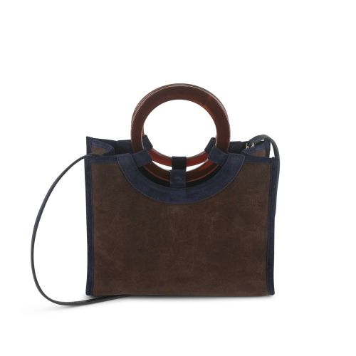 HANDLE BAG SUEDE SMALL 19X25X10